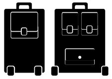 Suitcase icon isolated on white Royalty Free Stock Images