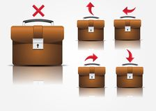 Suitcase icons Royalty Free Stock Image