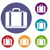 Suitcase icons set Stock Image