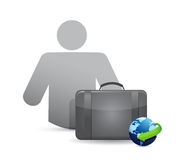 Suitcase and idea icon illustration design Stock Photos