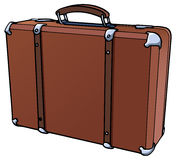 Suitcase. Illustration of a brown suitcase -  on white Stock Images