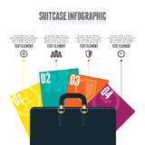 Suitcase Infographic. Vector illustration of suitcase infographic design element Stock Photography