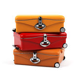 Suitcase isolated on a white background. Royalty Free Stock Photo