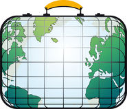 Suitcase like world map. Traveler's suitcase view like the world map Stock Photography