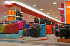 Suitcase. Luggage department within the mall at Bangkok in Thailand Stock Images