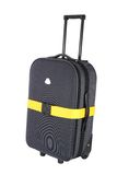 Suitcase with luggage strap Royalty Free Stock Photos