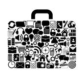 Suitcase made from web icons Royalty Free Stock Photo