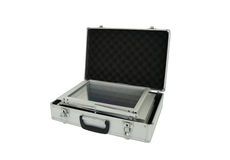Suitcase. Metal storage case foldable stand Royalty Free Stock Photo