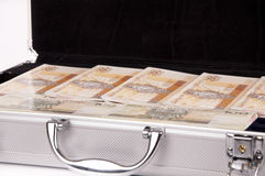 Suitcase with money Royalty Free Stock Image