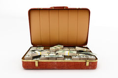 Suitcase with money Stock Photo