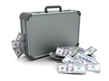 Suitcase with money Royalty Free Stock Photos