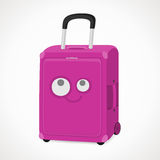 Suitcase with a muzzle. For girls, pink, vector format Stock Photo