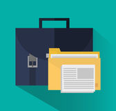 Suitcase of office and work design Stock Images