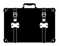 Suitcase old retro vintage icon stock vector illustration Stock Photography