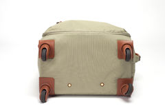 Suitcase olive green travel Stock Photography