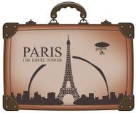 Suitcase paris Royalty Free Stock Images