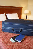 Suitcase, passport and wallet Royalty Free Stock Images