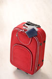 Suitcase, passports and money Stock Photo