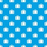 Suitcase pattern seamless blue Royalty Free Stock Image
