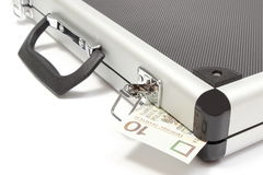 Suitcase with polish banknote Stock Photo