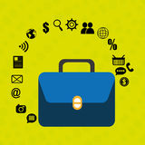 Suitcase portfolio buy web Stock Photos