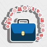 Suitcase portfolio buy web Royalty Free Stock Photography