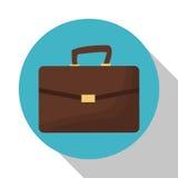 Suitcase portfolio document business shadow Stock Images