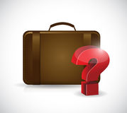 Suitcase and question mark. illustration design Stock Images