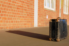 Suitcase on a ramp Stock Image