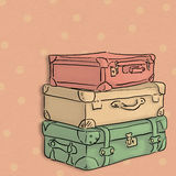 Suitcase raster illustration Royalty Free Stock Images