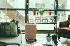 Suitcase in room