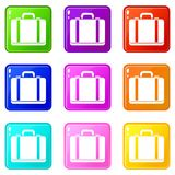 Suitcase set 9 Royalty Free Stock Photos