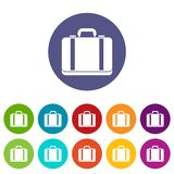 Suitcase set icons Stock Photo