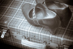 Suitcase and shoes Royalty Free Stock Image