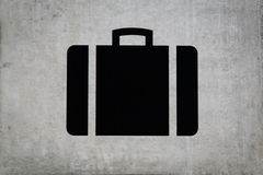 Suitcase sign at baggage claim Royalty Free Stock Photos