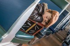 Suitcase sleep Royalty Free Stock Images