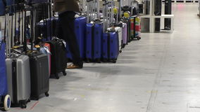 Suitcase store stock video footage