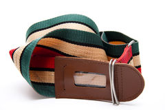 Suitcase strap touched Stock Photos