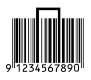 Suitcase stylized with barcode Stock Images