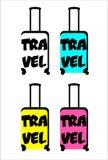 Suitcase stylized. Suitcase for travelling colorful stylized Stock Photos