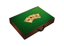 Suitcase suitable for poker chips Stock Photography