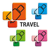 Suitcase - a symbol of travel Stock Photography
