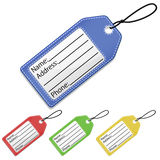 Suitcase Tags EPS. Illustrations of a suitcase name tag in four different colors. Available in vector EPS format vector illustration