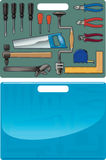 Suitcase with tools. For repair on different cases of life Royalty Free Stock Photos