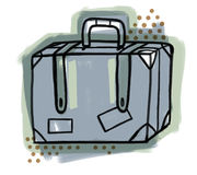 Suitcase - Travel Royalty Free Stock Photos