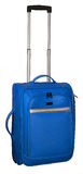 Suitcase for travel. Blue color with silver accents. Royalty Free Stock Photos