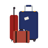 Suitcase travel isolated icon Stock Photos
