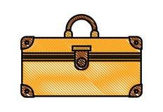 Suitcase travel isolated icon. Vector illustration design royalty free illustration