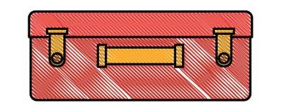 Suitcase travel isolated icon. Vector illustration design stock illustration
