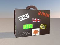 Suitcase for travel Royalty Free Stock Photo